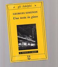 una testa diversa - georges simenon - 1972 - edizione adelphi