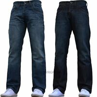 BNWT NEW MENS ENZO JEANS BLUE STRAIGHT WASHED 28 30 32 34 36 38 40 42 WAIST SIZE