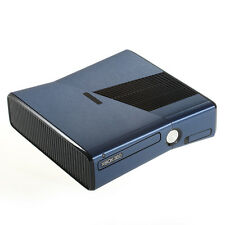 Brushed Blue Metal Effect XBOX 360 Slim decal skin sticker cover wrap