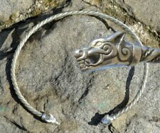 TORC WOLVES ICELAND Silver FENRIR Necklace Torques Vikings Jewel Celtic Wolf