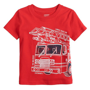 Baby Boy Jumping Beans Fire Truck Graphic Tee, Size 18 Months, Retail $12