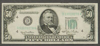 1950 $50 FRN FEDERAL RESERVE NOTE * CLEVELAND D03020278A Lot#CA086