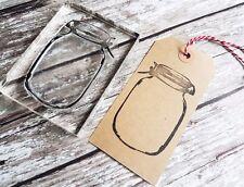 """Tampon en caoutchouc """"mason jar"""" artisanat, business, mariages, cuisson, cadeaux tag timbres"""