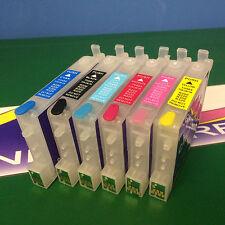 Refillable Cartridge For Epson Stylus Photo RX500 RX600 RX620 RX640 R220 T0481-6