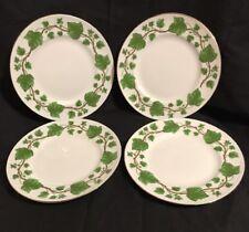 "Set Of 4 ROYAL VICTORIA FINE BONE CHINA ENGLAND IVY 8.25"" Salad Plates"
