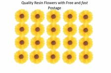 20pcs Yellow Daisy Resin Flowers Ideal for Scrapbooking Craft DIY Decorating