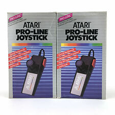 2 x ATARI PRO-LINE JOYSTICK CX24 1987 ACCESSORY FOR GAME CONSOLES AND COMPUTERS