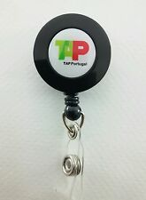 TAP Portugal Airlines YO YO ID Card Badge Holder Retractable Reel TP Lanyard Air