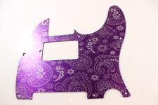 Purple Paisley Anodized Aluminum Humbucking Tele Pickguard - Fender Telecaster