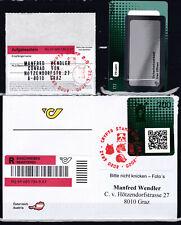 """Crypto Stamp 2.0 Lama Schwarz """"Ersttag""""  ECHT gelaufen"""