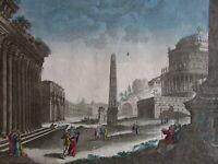 Rome Roma Italy Italia c.1760 Europe city view vue d'optique print fantasy view