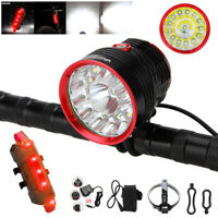 100000Lm 14 LED XML T6 Front Bicycle Bike Light Cycling Headlight Lamp Torch Set