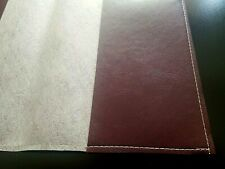 Book Cover FAUX LEATHER  8 1/8