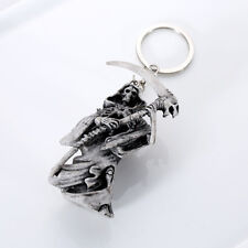 Death The Grim Reaper Skeleton Moulded Plastic Keyring