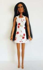 CHER DOLL CLOTHES : DRESS and JEWELRY - fits Mego vintage HM Fashion NO DOLL d4e