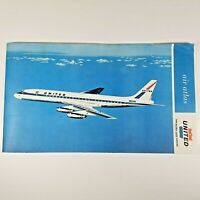 VINTAGE 1962 ORIGINAL UNITED AIRLINES IN FLIGHT AIR ATLAS MAP - EXCELLENT!