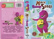BARNEYS MORE BARNEY SONGS VHS VIDEO PAL~ A RARE FIND~