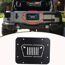 Tailgate Spare Tire Delete Plate for 2007-2018 Jeep Wrangler Jk Jku (Fits: Jeep)