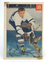 1954-55 Earl Balfour #25 Toronto Maple Leafs Parkhurst Vintage Hockey Card G939