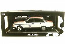 Volvo 240gl 240 GL politie Netherlands Police policía 1986 1:18 Minichamps nuevo