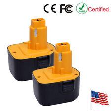 2 12V 2.0AH Ni-Cd Battery for Dewalt DC9071 DW9071 DW9072 DE9037 DE9071 DE9072