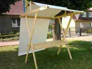 Marktstand Nostalgie Holz-PVC Dach