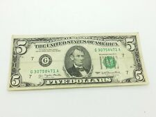 Old Paper Money 1977 Five $5 Dollar Bill Federal Reserve Note