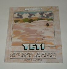 1993 Yeti Abominable Snowman - Elaine Landau Hc Book Mysteries of Science