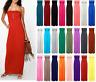 Womens Strapless Maxi Dress Ladies Sheering Boob tube Bandeau Long Lot Size 8-22