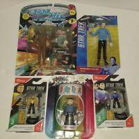 Star Trek Action Figure Lot of 5 NIB. Playmates, mini mates, mega construx. Spok
