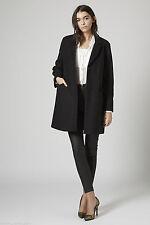 TopShop Women's Wool Blend Knee Length Casual Coats & Jackets