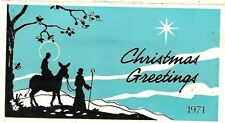 VINTAGE CHRISTMAS GREETINGS CARD 1971 GIFT VOUCHER CARD  S.MOFFAT SECRETARY