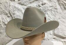 Vintage John B STETSON Western Cowboy XXX Beaver HAT size 7 1/4 Light TAN