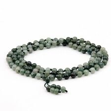 Natural Jadeite Jade Tibet Buddhist 108 Prayer Beads Mala Necklace Knot