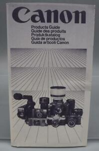 Vintage Canon Camera Products Guide dq