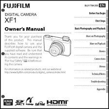 FujiFilm FinePix XF1 Digital Camera Owner's  Manual User Guide Instruction