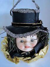 Vintage Victorian Doll Head Handmade Ornament