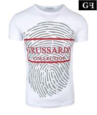 TRUSSARDI Collection M2 Berra Herren Men T-Shirt Kurzarm Weiß White NEU NEW