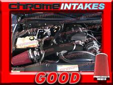 BLACK RED WB 99-07 CHEVY/GMC/CADILLAC TRUCKS/SUVS COLD AIR INTAKE KIT