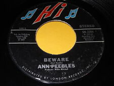 Ann Peebles: Beware / You Got To Feed The Fire 45 - Funk
