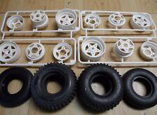 Nouveau tamiya grasshopper/sand scorcher roues avant et arrière & pneus pièces uniquement