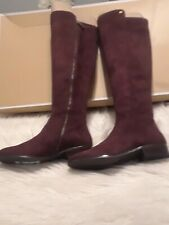Michael kors bromley flat  boots stretch suede size 6M