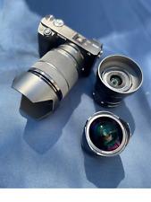 Sony A6300 & 3 Professional Lenses (Sony Zoom; Sigma Wide, & 7artesians FishEye)