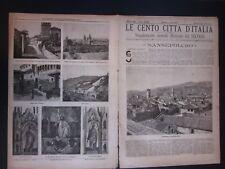 1897 SANSEPOLCRO Le Cento Città d'Italia Sonzogno Editore riccamente illustrato