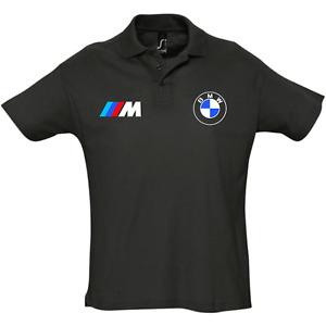 polo homme BMW M Noir s-2xl sport chic M3 M4 M5 Z3 Z4 X1 X3 X5 X6 racing