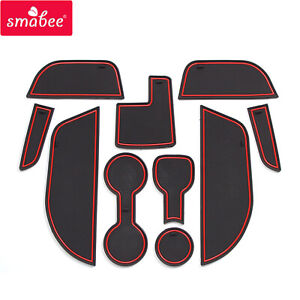 for Opel Vauxhall Astra K Anti-Slip Gate Slot Cup Mat Accessories Car Door Pad