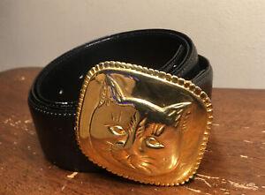 LEE SANDS CAT Leather Belt M/L