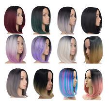 Ombre 12inch Bob Style Wigs Straight Dark Root Shoulder Length Women's Bob Wig