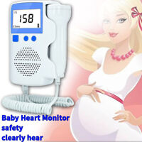 3.0 MHZ 50~230BPM Baby Fetal Heart Rate Detector Pregnant Pocket Doppler Monitor
