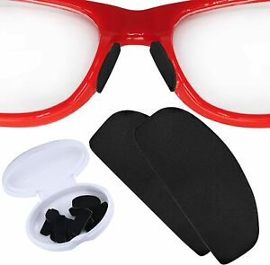 Setex GeckoGrip Anti-slip Silicone Nose Pads Glasses Sunglasses 15 Pairs Black